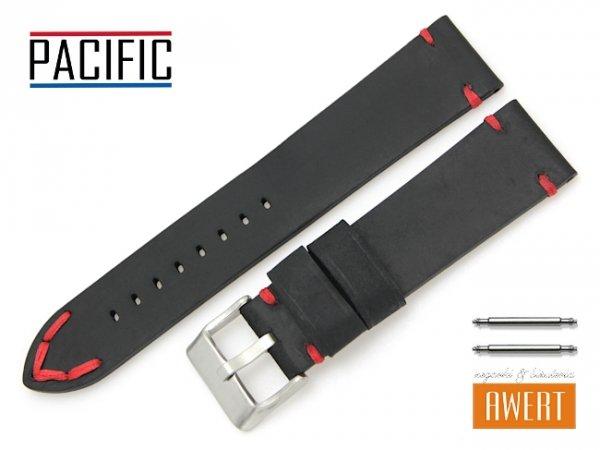 PACIFIC 22 mm pasek skórzany W93 czarny W93-1RE-22
