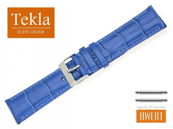 TEKLA 22 mm pasek skórzany PT25 nebieski