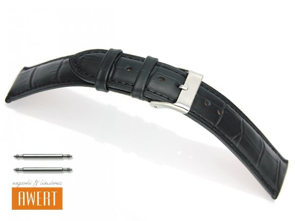 TEKLA PT41 pasek skórzany 20 mm czarny