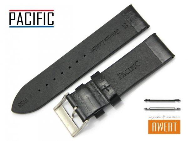 PACIFIC 22 mm pasek skórzany W38 czarny