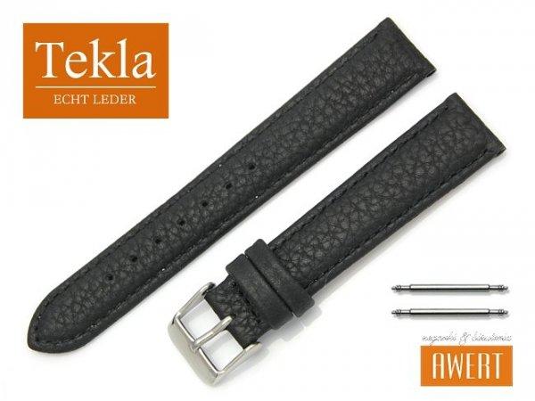 TEKLA 18 mm pasek skórzany PT93 czarne szycie