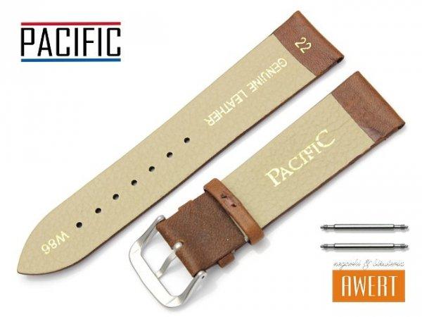 PACIFIC 22 mm pasek skórzany W86 brązowy