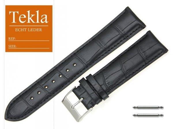 TEKLA 22 mm XL pasek skórzany PT25 czarny