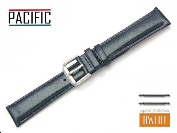 PACIFIC W114 pasek skórzany 18 mm zielony