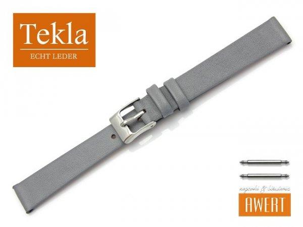 Pasek do zegarka TEKLA PT26 skórzany 14 mm szary