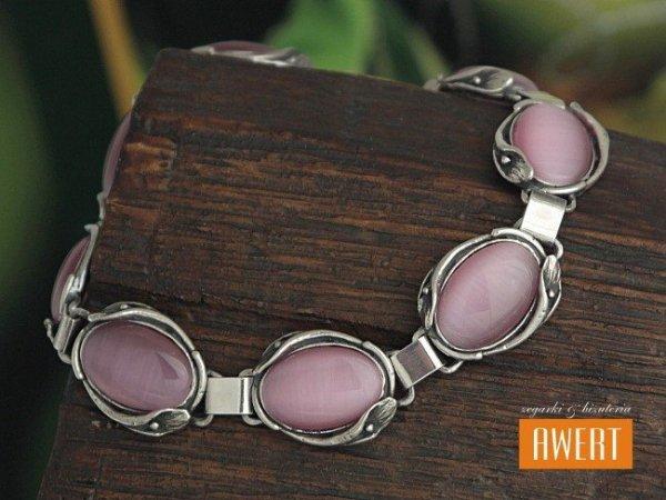 Kalla srebrna bransoleta z kamieniem