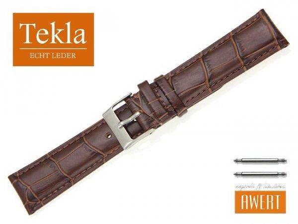 TEKLA 20 mm pasek skórzany PT25 brązowy