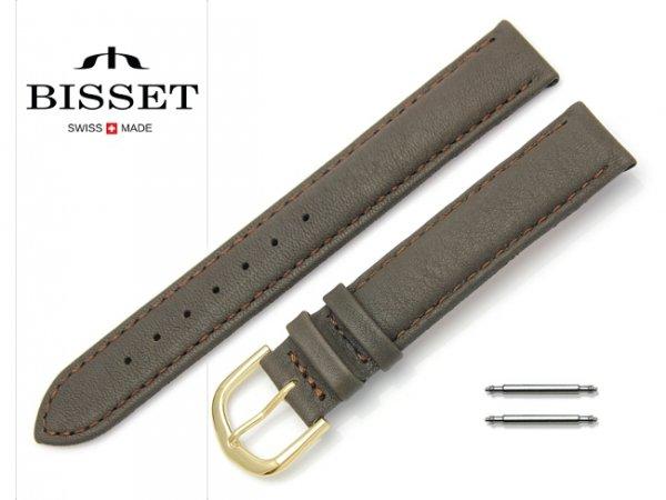 Pasek skórzany do zegarka 16 mm BISSET BS108 brązowy