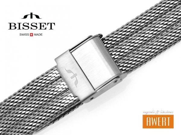 BISSET 14 mm bransoleta stalowa mesh BM103 srebrna