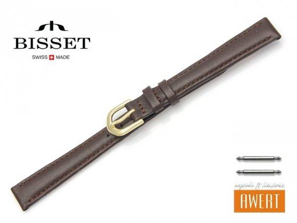 Pasek skórzany do zegarka 12 mm BISSET BS107 brązowy