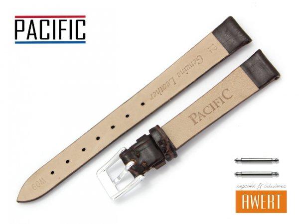 PACIFIC 12 mm pasek skórzany W09 brązowy