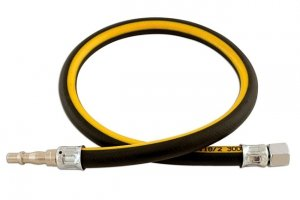 3/8in. ID Air Line Whip Hose C/w Fittings 0.6m