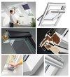 VELUX INTEGRA® Dachfenster Solarfenster GLU 1051 satz - Mach es selbst - Schwingfenster – Solar Automatische Fenstern - satz DIY - GLU / EDZ / KSX 100K  Solar-Nachrüst-Set - io-homecontrol System