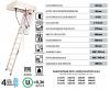 Bodentreppe OMAN POLAR U=0,36 Energiesparende Treppe aus Holz