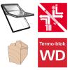 Dachfenster Roto Designo R69G H Schwingfenster aus Holz blueTec mit Wärmedämmblock