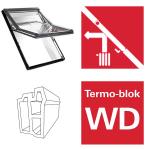 Dachfenster Roto Designo WDF R68C K blueLine Comfort Schwingfenster aus Kunststoff mit Wärmedämmblock Kunststoff Designo R6 Schwingfenster 2-fach Comfort Aluminium