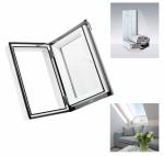 Ausstiegsfenster Dobroplast PVC Skylight Loft 45x73 aus Kunststoff  inkl. Eindeckrahmen / - Dachluken - Dachausstieg - Dachluke - Dachfenster