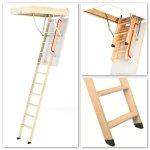 Bodentreppen Fakro LWK Mehrteilige Bodentreppen mit Holzleiter U=1,1 W/m²K