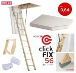 Bodentreppe DOLLE 56 SILBER clickFIX® U=0,64 aus Holz Energiesparende