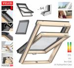VELUX Dachfenster GLL 1064 B Schwingfenster aus Holz 3-fach-Verglasung Uw=1,0 ENERGIE Rw=35dB mit Dauerlüftung STANDARD PLUS neue Generation 2021 ThermoTechnology  Boden Griff: Griff mit 2 Lüftungsstellung