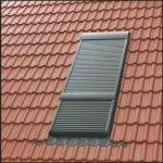 Velux SMG 0000S Elektro-Rollladen Aluminium INTEGRA® Elektro-Rollladen Oben-/ Untenelement Dunkelgrau für Lichtband Komplett-Set