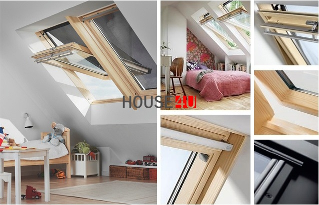dachfenster velux ggl 3068 energie 3 fach verglasung schwingfenster aus holz klar lackiert uw 1. Black Bedroom Furniture Sets. Home Design Ideas