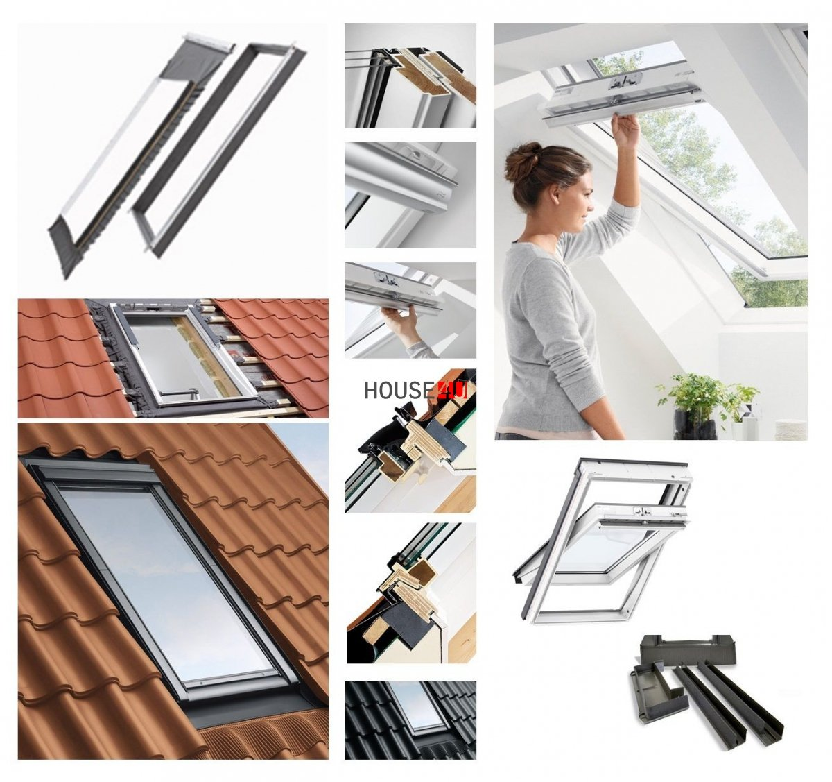 dachfenster set velux glu 0061 3 fach verglasung uw 1 1 schwingfenster kunststoffdachfenster. Black Bedroom Furniture Sets. Home Design Ideas