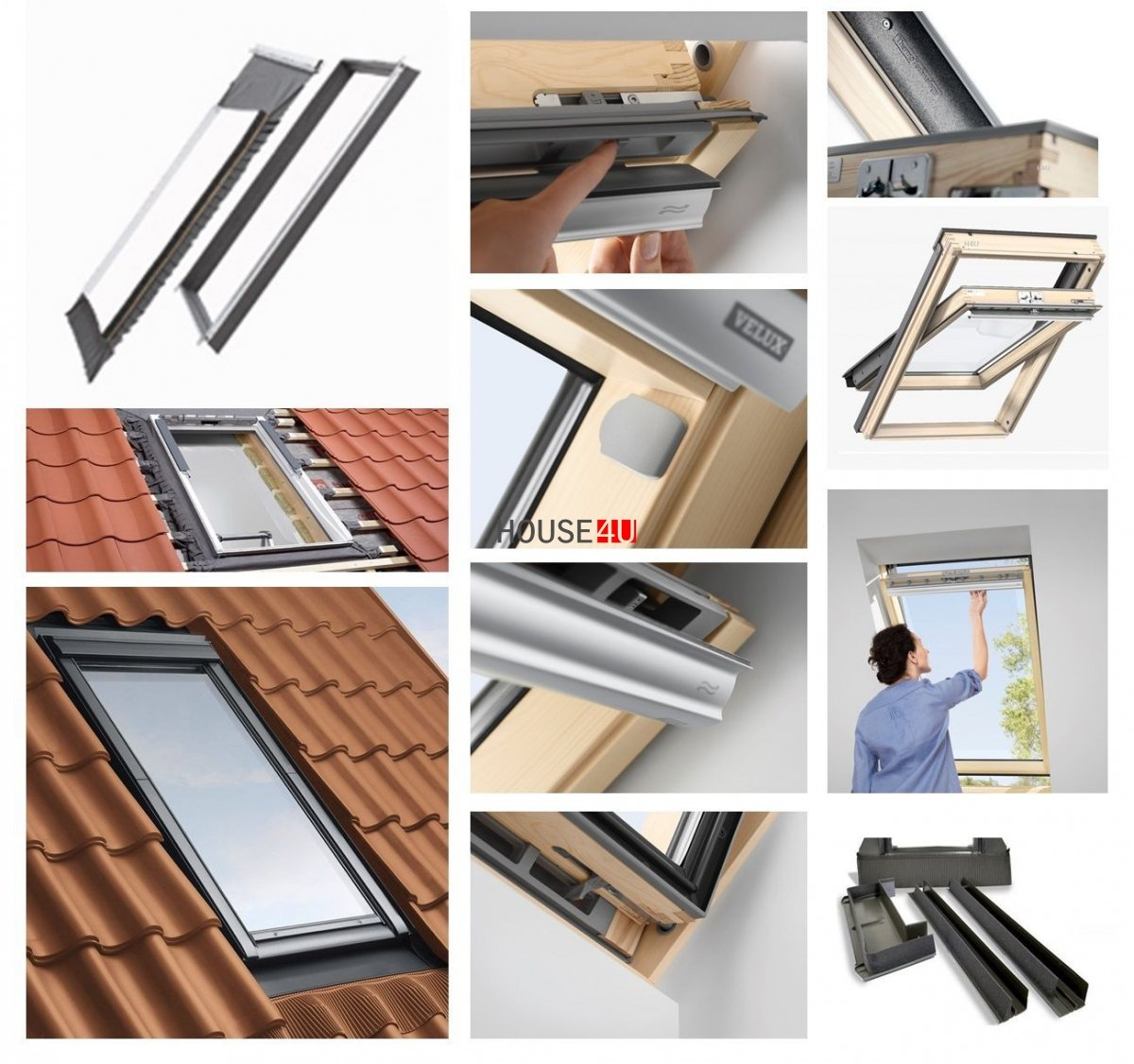 dachfenster set velux gll 1061 3 fach verglasung uw 1 1 schwingfenster holzfenster edj 2000. Black Bedroom Furniture Sets. Home Design Ideas