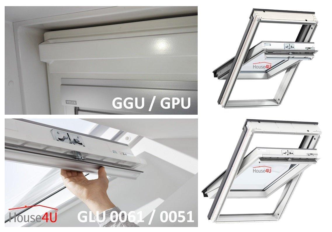 automatische dachfenster velux glu 0061 aus kunststoff 3-fach