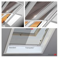 Insektenschutzrollo ZRI 84/R8 T-300 für Dachfenster Designo R8 mit Transpatec®