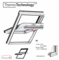 OUTLET: VELUX Dachfenster GGU 0050 FK04 66x98 + EDZ Uw=1,3 Schwingfenster aus Kunststoff Alternative für THERMO-STAR