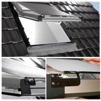 Hitzeschutz Markise Roto ZAR Manual Hitzeschutz transparent schwarz Anti-Hitze-Markise für ROTO Dachfenster