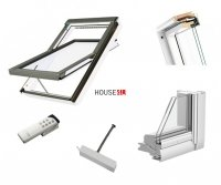 Outlet: Dachfenster Fakro FTU-V Z-Wave U3 134x140 Schwingfenster Holz weiß lackiert wie Kunstoff erhöhter Feuchteresistenz