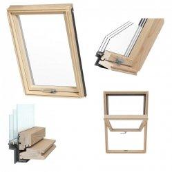 Dachfenster RoofLITE® TRIO PINE AAY 3-Fach Holz-Profile Schwingfenster Uw=1,1 Profile VKR-Gruppe (VELUX, Altaterra)