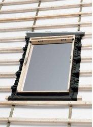 Eindeckrahmen Velux EL 0000 für Austauschfenster, Dacheindeckung hochprofiliert, Aluminium, für flaschen Eindeckmaterialien  bis 1,6 cm (2x0,8 cm) Höhe