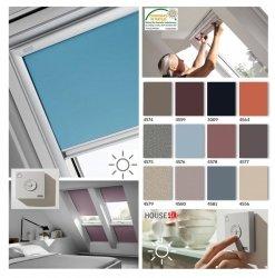VELUX DSL Premium INTEGRA® Solar-Verdunkelungsrollo für VELUX Dachfenster, Pick&Click ®-Systems, dreilagigen Oeko-Tex®-Stoff