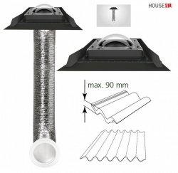 Tageslicht-Spot FAKRO SFD-H 350 550 mit flexiblem Rohr für hochprofilierte Dacheindeckung (90mm)