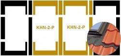 Eindeckrahmen Fakro KHN-2-P Modul für die Kombination übereinander für hochprofilierte Eindeckmaterialien