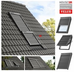 VELUX INTEGRA® SSS 0000S Solar Hitzeschutz-Markise Verdunkelung, Wetterbeständiges, Alu-Lamellen mit stabilisierenden