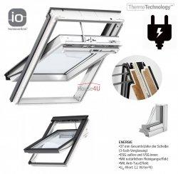 VELUX INTEGRA Dachfenster GGU 006821 Elektrofenster Kunststoff Schwingfenster 3-fach-Verglasung Uw= 1,1 ENERGIE Aluminium Aluminium io-homecontrol® Elektro