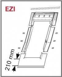 Eindeckrahmen Roto EDR EZI für ebener Ziegel mit WD