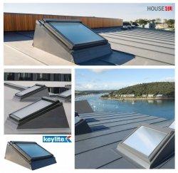 Flachdachsystem Keylite  FRX Dachgaubensystem mit isolierter Holz Aufkantung und Eindeckrahmen