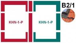 Kombi-Eindeckrahmensystem Fakro KHN B2/1 für hochprofilierte Eindeckmaterialien