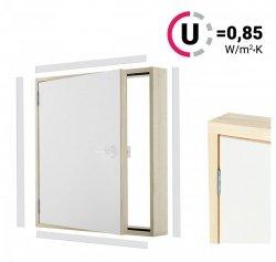 Versand 48H Kniestocktür DK EXTRA 80x70 thermoisolierte Uw = 0,85 W/m²K Drempeltür mit Wärmedämmung