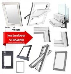 Dachfenster RoofLITE® TRIO PVC APY 3-Fach Verglasung Uw=1,1 PVC-Profile Schwingfenster, Profile in Weiß, mit Untenbedienung (Boden-Griff), VKR-Gruppe (VELUX, Altaterra)
