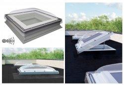 Flachdach-Fenster Fakro DEC-C U8(VSG) Elektrisch Gesteuert U=0,72 W/m²K *