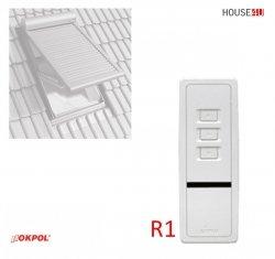 Fernbedienung Okpol RS1 Funkfernsteuerun 1-Kanal-Fernbedienung für Solar-Außenrollladen RZS1