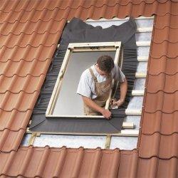 Eindeckrahmen Velux EW 6000 für Austauschfenster, Dacheindeckung hochprofiliert, Aluminium, für profilierten Eindeckmaterialien von 1,5 bis 12 cm Höhe mit Dämmrahmen BDX