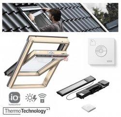 VELUX INTEGRA® Dachfenster Solarfenster GZL 1054 satz - Mach es selbst - Schwingfenster – Solar Automatische Fenstern - satz DIY - GZL / EDZ / KSX 100K  Solar-Nachrüst-Set - io-homecontrol System