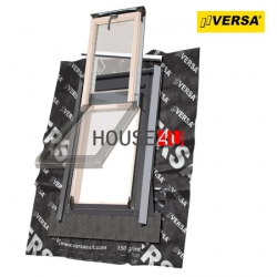 Dachluken Okpol ISW+ E2 55×98 für Nutzräume Uw=1,2 Dachausstiegsfenster aus Holz SOLID+ - Ausstiegsfenster - Dachausstieg - Dachluke - Dachfenster